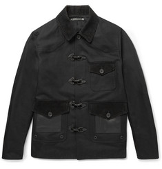Coach Slim-Fit Leather, Felt and Corduroy-Panelled Cotton Jacket