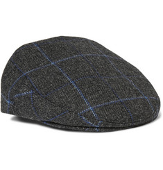 Lock & Co Hatters - Windowpane-Checked Wool Flat Cap