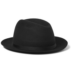 Lock & Co Hatters Grosgrain-Trimmed Rabbit-Felt Hat