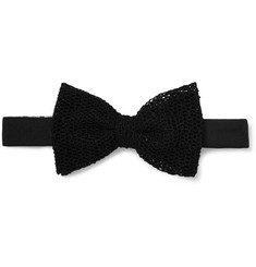 Marwood Cotton-Mesh Bow Tie