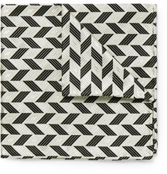 Marwood Patterned Woven Silk Pocket Square