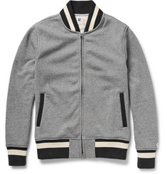 Todd Snyder + Champion Zip-Through Fleece-Back Cotton-Jersey Varsity Jacket