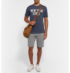 Todd Snyder + Champion Cut-Off Mélange Loopback Cotton-Jersey Shorts