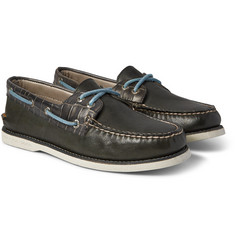 Sperry Top-Sider - Gold Cup Croc-Effect Leather Boat Shoes