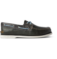 Sperry Top-Sider Gold Cup Croc-Effect Leather Boat Shoes