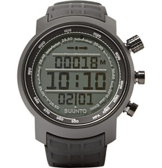 Suunto Elementum Terra Steel and Rubber Digital Watch