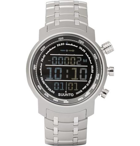 SUUNTO Elementum Terra Steel Digital Watch in Silver