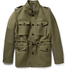 Wooster + Lardini Ramie and Wool-Blend Canvas Field Jacket