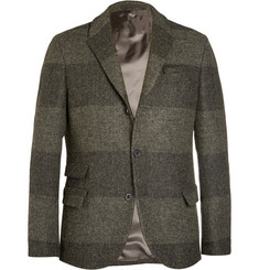 Wooster + Lardini Unstructured Harris Tweed Wool Blazer