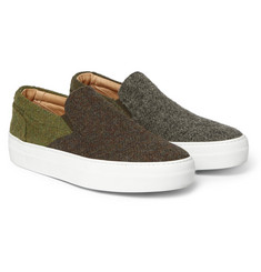 Wooster + Lardini + Greats Harris Tweed Slip-On Sneakers