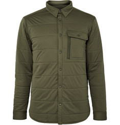 Snow Peak Quilted Stretch-Jersey Shirt Jacket