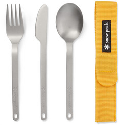 Snow Peak Three-Piece Titanium Cutlery Set