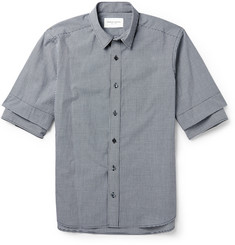 Public School Double-Layered Gingham Cotton Shirt