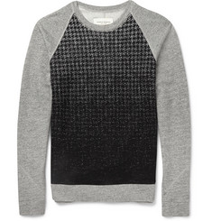 Public School Dégradé Houndstooth Wool-Blend Sweatshirt