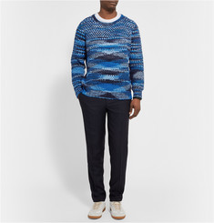The Elder Statesman Patterned Cashmere Sweater