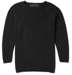 The Elder Statesman Crew-Neck Cashmere Sweater