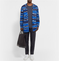 The Elder Statesman Oversized Cashmere-Jacquard Cardigan