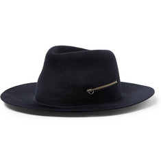 Larose Zip-Detailed Rabbit-Felt Fedora