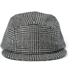Larose Prince of Wales Check Merino Wool and Cashmere-Blend Cap