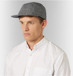Larose - Prince of Wales Checked Merino Wool and Cashmere-Blend Cap