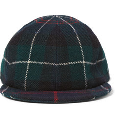 Larose Checked Wool Baseball Cap