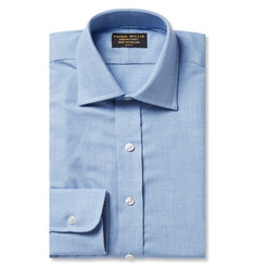 Emma Willis Blue Slim-Fit Cashmerello Shirt