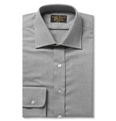 Emma Willis Grey Slim-Fit Cashmerello Shirt