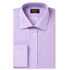 Emma Willis Lilac Double-Cuff Cotton Shirt