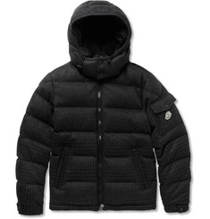 Moncler Montgenevre Degradé Prince of Wales Check Quilted Wool Down Coat