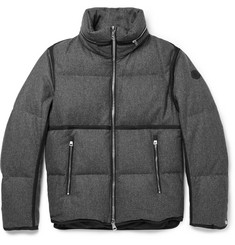 Moncler Eloy Quilted Wool-Flannel Down Jacket