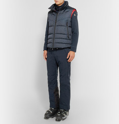 Moncler Grenoble Zip-Up Shell-Trimmed Fleece Sweater