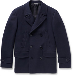 Canali Slim-Fit Textured Wool and Cashmere-Blend Peacoat