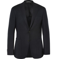 Canali Kei Slim-Fit Basketweave Stretch-Wool Blazer
