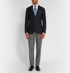 Canali Kei Navy Slim-Fit Stretch-Wool Travel Blazer
