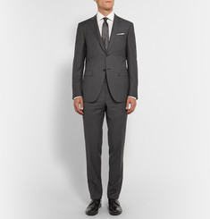 Canali Grey Slim-Fit Wool Suit