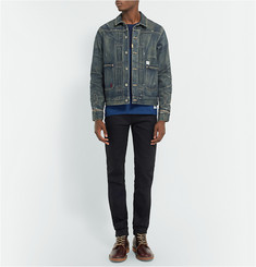Neighborhood Rip Repair Distressed Denim Jacket