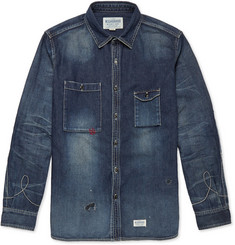 Neighborhood Rip Repair Distressed Denim Shirt