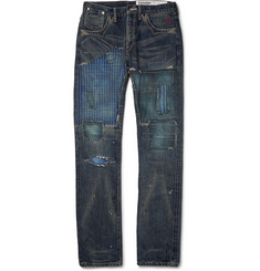 Neighborhood Rip Repair Distressed Denim Jeans