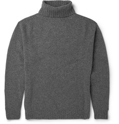 Several RIbbed Wool Rollneck Sweater