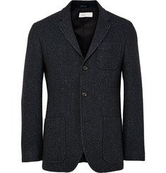 Several Midnight-Blue Grove Wool and Silk-Blend Blazer