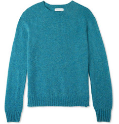 Several Slim-Fit Flecked Shetland Wool Sweater