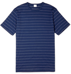 Sunspel Pin-Dot Striped Cotton T-Shirt