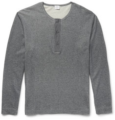 Sunspel Cotton-Jersey Henley T-Shirt
