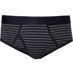 Sunspel Superfine Cotton-Jersey Striped Briefs