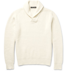 Michael Kors Shawl-Collar Ribbed Knit Sweater