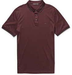 Michael Kors Stripe-Tipped Cotton-Jersey Polo Shirt
