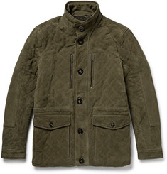 Michael Kors Quilted Suede Field Jacket