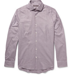 Michael Kors Jeremy Slim-Fit Micro-Check Cotton-Poplin Shirt