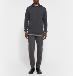 Michael Kors Waffle-Knit Stretch Cotton-Jersey Hoodie