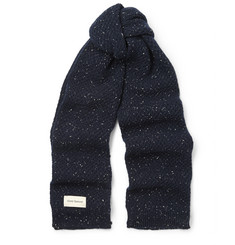 Oliver Spencer Textured Donegal Wool Scarf